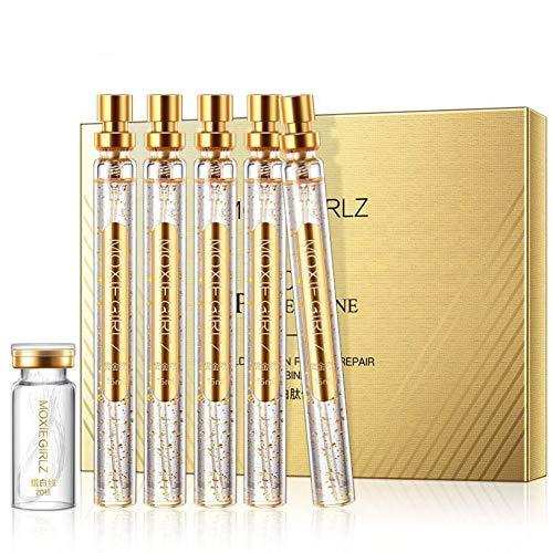 Doubleer Gold Protein Peptid Repair Kit Feuchtigkeitsspendende straffende Haut Serum Moisturizing Essence für glattes Gesicht -