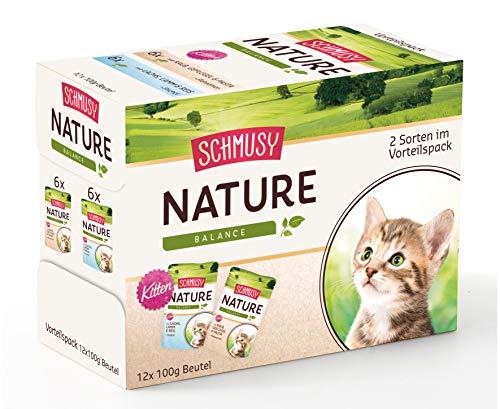 Schmusy Nature Kitten Multi Box, Confezione da (4X 1.2kg)