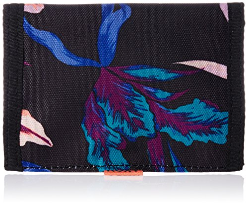 Roxy Damen Womens Wallets SMALL BEACH J WLLT, True Black  Maui Lights, One Size, ERJAA03064-KVJ8 (Black Wallet Roxy)