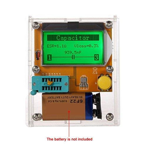 coconut LCD Display ESR Transistor Tester Multifunktionale Widerstand Inductor Kondensator SCR mos Rohr Triode