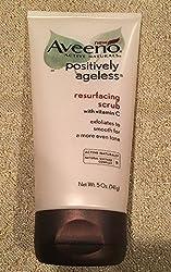 Aveeno Positively Ageless Resurfacing Scrub Vitamin C 5oz Exfoliate Free Ship