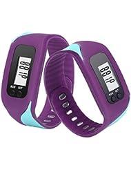 Contadores de calorías Sannysis Pulsera de actividad con pulsómetro pulsera (Púrpura)
