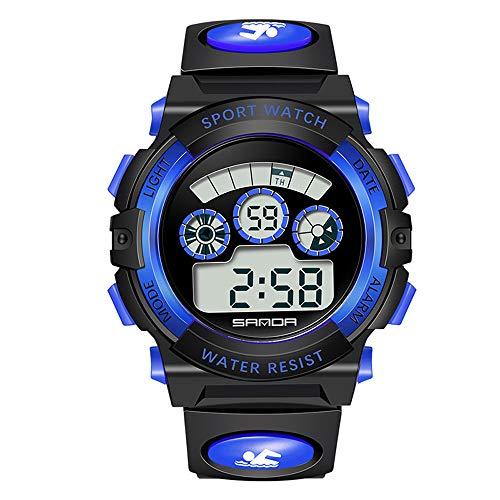 Huige orologio analogico digitale sportivo, impermeabile multifunzione outdoor led dual-display digitale elettronica di lusso orologi da polso