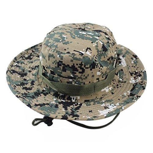 VORCOOL der Boonie Bucket Hat Wandern Angeln Bush Cap für Outdoor Activites (ACU Camo) (Boonie Hut Acu)