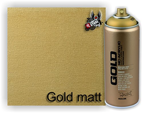 Montana Sprühdosen Gold, Kupfer, Schwarz, Esatzsprühköpfe/Caps, Klamottenstore (Gold matt)