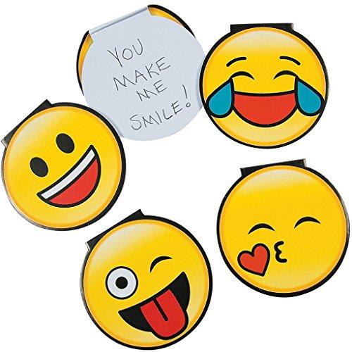 Gesichts-block (Elfen und Zwerge - Notizblock Emoji - lustige Smiley Gesichter - blanko Block - Mitgebsel Kindergeburtstag - 6 Stück)
