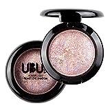 UBUB Frauen Mädchen Nude Smoky Lidschatten-Palette Metallic-Augen-Schatten-Puder lose Shimmer Mineral Pigment