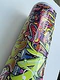 200x152cm Stickerbomb Graffiti Urban small - Autofolie Blasenfrei mit Luftkanäle car wrapping *GRATIS Montageanleitung 19,99€/1qm