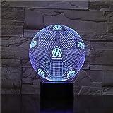 Droit Au Aber Nachtlicht 3D Illusion Tischlampe Nachtlicht Farbwechsel Luminaria Touch Lichter Fußball Trophy Geschenke