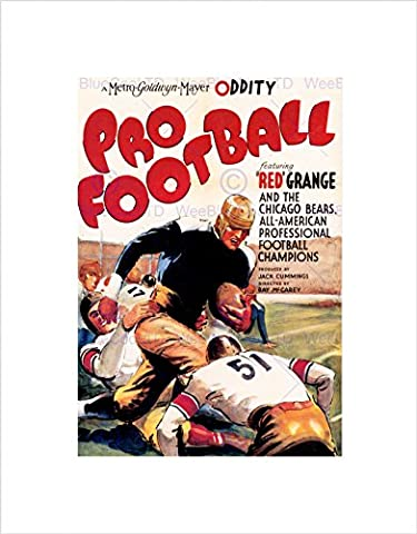 MOVIE FILM PRO FOOTBALL SPORT SHORT CHICAGO BEARS USA FRAMED ART PRINT B12X5560