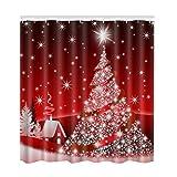 Frohe Weihnachten Dekor Für Zuhause Weihnachtsmann Duschvorhang Sleepy Schneemann Muster Wasserdicht Bad Dusche Bad Vorhang