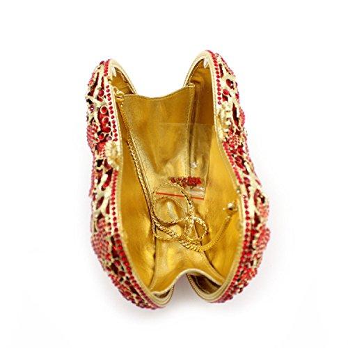 High-end Pacchetto Del Sacchetto Di Lusso Di Diamanti Da Sera Di Banchetto Delle Donne Red