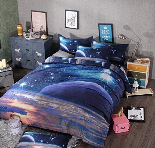 Grafiken 3D, Stereo, vier Sets, Bettwäsche, Bettbezug Decke, Landschaft 3D, vier-teiliges Kostüm,, 1,8 (Kostüm Indienne Fille)