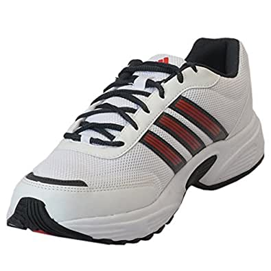 Adidas Men's Alcor White and Black Running Shoes - UK 10