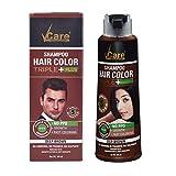 Vcare Shampoo Hair Color Triple Plus, Brown, 180ml