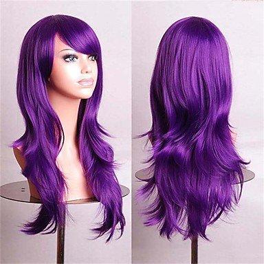 HJL-perruques cosplay pas cher Fasion perruques synthétiques perruque complète 70 cm violet , purple