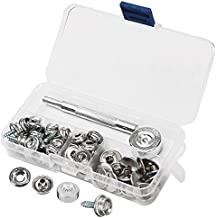 Wrighteu Botones Kit Herramientas de Presión 62 Set Herramienta de Fijación Herramientas Reparar Acero Inoxidable Kit