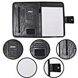 #4: Livzing A4 Padfolio Presentation Conference Executives Business Leather File Folder Notebook Portfolio Document Organizer Paper Folio with Calculator and Stationary Writing Memo Pad Men Women Work Office School