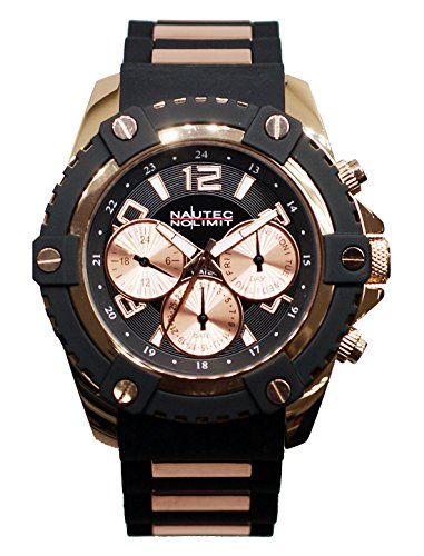 Nautec No Limit Men's Watch Glacier 2 Analogue Quartz Rubber GLAC2 QZ Rbrg cm black