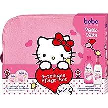 Bebe Zartpflege Hello Kitty Wintergeschenkset, 4-teiliges Pflege-Set und Tasche (1x Zartcreme 50 ml und 150ml im Hello Kitty Design, 1x Kämmspaß Shampoo und Spülung 300 ml, 1x Kämmspaß Spray 200 ml)