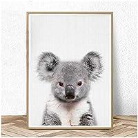MULMF Baby Koala Print Australian Animal Nursery Wall Art Canvas Painting Animals Posters and Prints Kids Room Decor- 50X70Cm No Frame