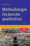 Méthodologie de la recherche qualitative - Les questions clés de la démarche compréhensive