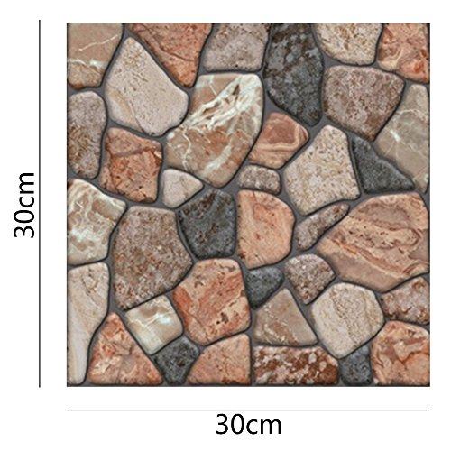 #Lifemaison 3D Ziegelstein Tapete Brick Pattern Wallpaper Wandaufkleber Fototapete Dekor für Wohnzimmer, Schlafzimmer, Kinderzimmer, Badezimmer oder Küche.#