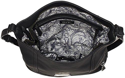 ara Bags Damen Aberdeen Umhängetasche, 26x30x10,5 cm Schwarz (Schwarz)