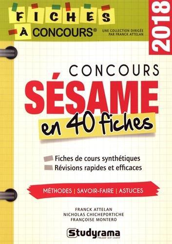 Concours Ssame : 40 fiches mthodes, savoir-faire et astuces