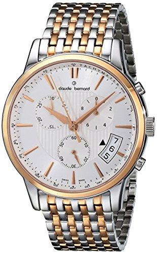 Claude Bernard Men's 01002 357RM AIR Classic Chronograph Analog Display Swiss Quartz Two Tone Watch