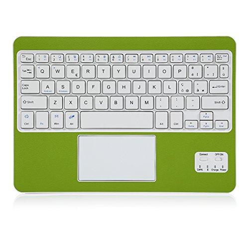 Tastiera Wireless , CoastaCloud Bluetooth 3.0 Tastiera Wireless per Portatile e Leggera con QWERTY Italiano Layout Tastiera e touchpad - Compatibile Qualsiasi Android / Windows Tablet-Verde