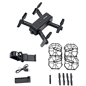 ZZH Drones with Camera 1080P,Aircraft Quadcopter Durable Full Protection Optical Flow 360degree Rolling Selfie Drones for Kids Adults Beginners