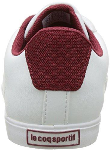 Le Coq Sportif Damen Agate Lo Sneakers Weiß (Optical White/Rouge Ruby W)