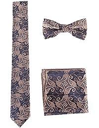 Oliked Classic Hombres corbata incluye pañuelo Gemelos fNTut