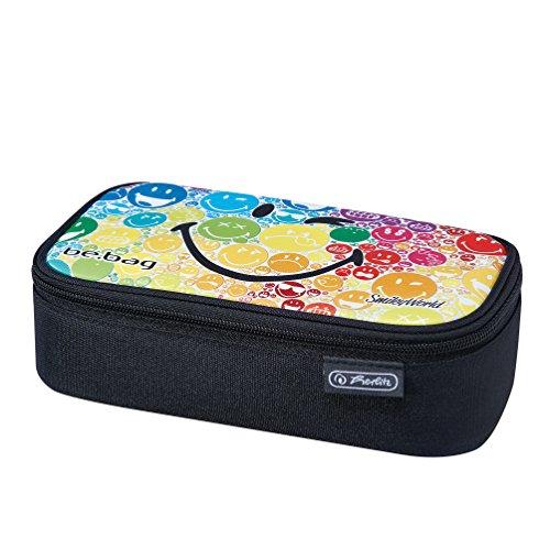 Herlitz 11410651 - Astuccio be.bag beat box, motivo a quadri neri, Purple Checked (multicolore) - 11410701 Smiley Rainbow