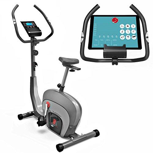 Sportstech ES400 Ergometro Hometrainer • Controllo APP con Smartphone • Volano da 10kg • Bluetooth • Monitor pulsazioni • Hometrainer con sistema frenante magnetico • Trainer bicicletta • Fitness bike • Supporto per tablet