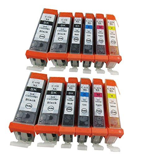 Preisvergleich Produktbild Kompatible Tintenpatronen Ersatz für Canon PGI 570XL 570 XL CLI 571XL 571 PGI-570 PGI-570XL CLI-571 CLI-571XL PGI-570XL CLI-571XL Tintenpatronen Hohe Kapazität kompatibel für Canon PIXMA MG7700 MG7750 MG7751 MG7752 MG7753 Tintenpatronen für Inkjet Drucker (4 Grossen Schwarz,2 Klein Schwarz,2 Cyan,2 Magenta,2 Gelb)