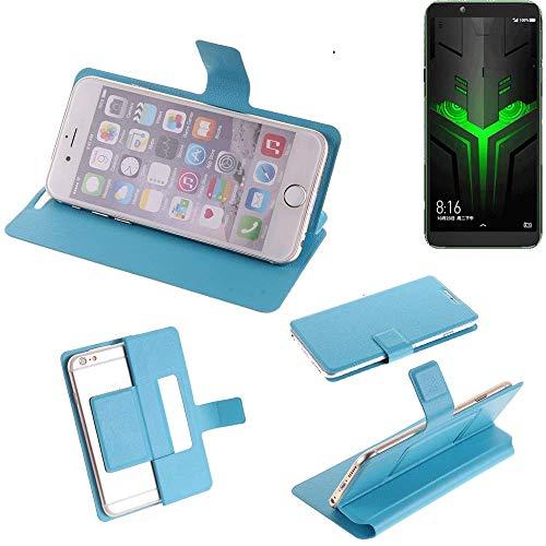K-S-Trade Flipcover für Xiaomi Blackshark Helo Schutz Hülle Schutzhülle Flip Cover Handy case Smartphone Handyhülle blau