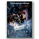 Box Prints Star Wars Empire Strikes Back Film-Poster/Leinwandbild, Vintage, Retro-Stil, groß, klein, Large 80x50cm (32