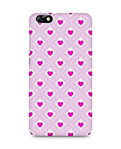 Amez designer printed 3d premium high quality back case cover for Huawei Honor 4X (Romantic Pink Color Hearts3)