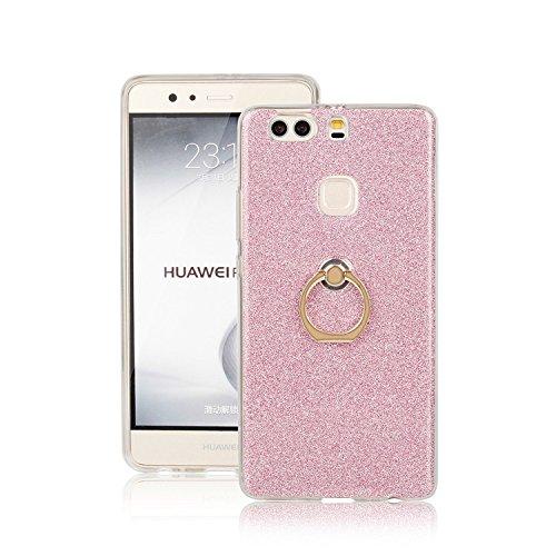 Huawei P9 Plus Funda, Ranrou TPU Soft Sparkle Powder Back Cover with 3