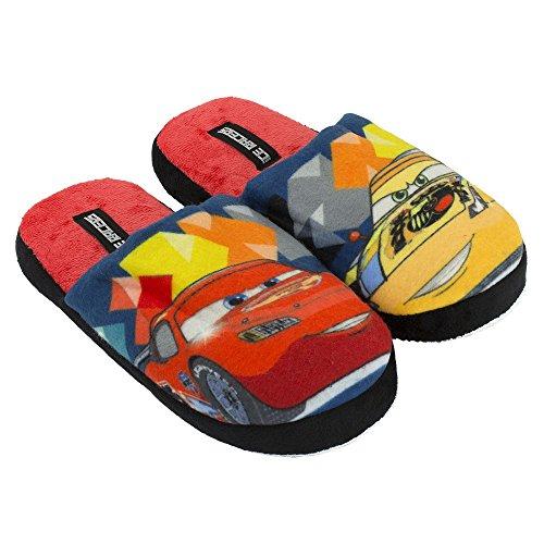 Disney Cars Pantoffeln, Hausschuhe Grau/Rot Rot