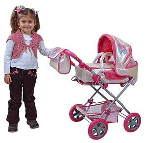 Knorr 61560 Luke - Cochecito de bebé de Juguete con diseño de Mariposas y Acabado Brillante