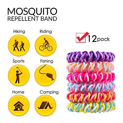 Queta Mückenschutz-Armband, 12 Stück, passend für alle Menschen, Kinder, Erwachsene, Citronella, wasserdicht, Insektenabwehr (Bug Repellent Baby)