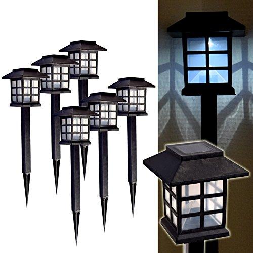 (742) 6er Set LED Solar Laterne Garten Leuchte Solarlampe Gartenleuchte Solarleuchte