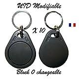 Lot de 10 badges Rfid Mif 1K 13.56Mhz - UID modifiable ( bloc 0 changeable )