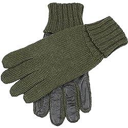 Dents Browning de oliva de punto de disparo de cuero guantes de Palm - Grande