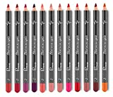 Madlst 2 in 1 Doppel-Ende Lippenstift Lipliner Make-up Matte Lip Liner Lippenstift Set,Als Bild