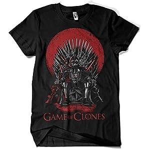 Camisetas La Colmena, 035 - Game of Thrones - Game of Clones (Negro L) 13