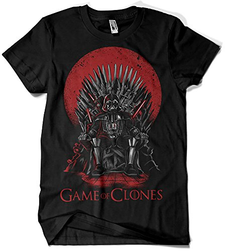 Camiseta Star Wars - Game of Thrones - Game of Clones Negro M